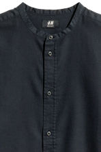 Grandad shirt Regular fit - Black - Men | H&M CN 3