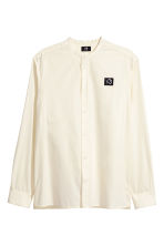 Camicia coreana Regular fit - Bianco naturale/XO - UOMO | H&M IT 2