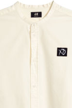 Camicia coreana Regular fit - Bianco naturale/XO - UOMO | H&M IT 3