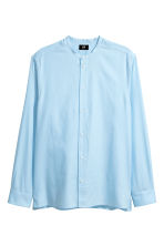 Grandad shirt Regular fit - Light blue - Men | H&M 2