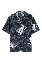 Resort shirt Regular fit - Dark blue/Birds -  | H&M 2