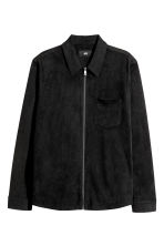 Imitation suede shirt jacket - Black - Men | H&M CN 2