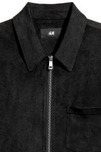 Imitation suede shirt jacket - Black - Men | H&M CN 3