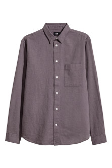 Camicia misto lino Regular fit