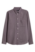 Linen-blend shirt Regular fit - Dusky purple - Men | H&M 2