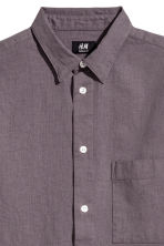 Linen-blend shirt Regular fit - Dusky purple - Men | H&M 3