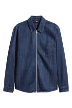 Giacca-camicia in denim - Blu denim scuro - UOMO | H&M IT 2