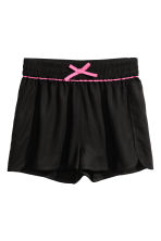Short viscose shorts - Black -  | H&M CN 2