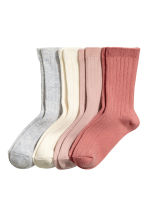 4-pack socks in a box - Dusky pink - Kids | H&M CA 2