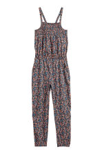 Patterned jumpsuit - Dark grey/Floral - Kids | H&M 2