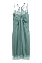 Satin slip dress - Dusky green - Ladies | H&M CN 2