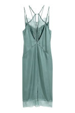 Satin slip dress - Dusky green - Ladies | H&M CN 3