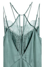 Satin slip dress - Dusky green - Ladies | H&M CN 4