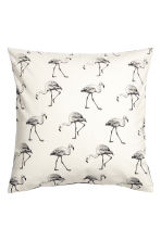 Flamingo-print cushion cover - White - Home All | H&M CN 1