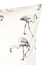 Flamingo-print cushion cover - White - Home All | H&M CN 3