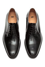 Leather Derby shoes - Black - Men | H&M CN 2