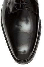 Leather Derby shoes - Black - Men | H&M CN 3