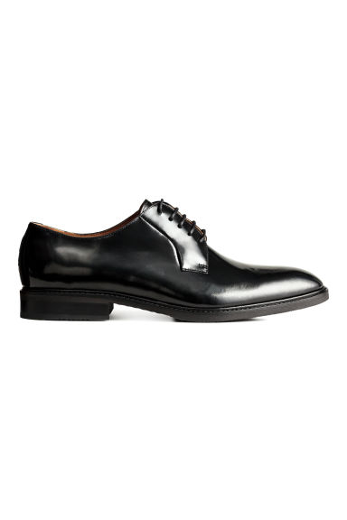 Leather Derby shoes - Black - Men | H&M CN 1