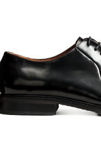 Leather Derby shoes - Black - Men | H&M CN 4
