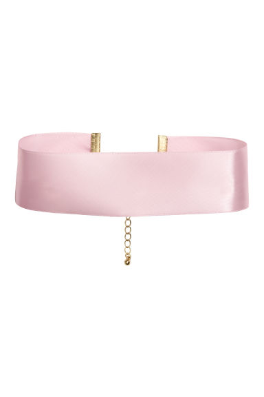 Satin choker - Light pink - Ladies | H&M CN 1