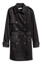 Short trenchcoat - Black - Ladies | H&M 2