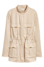 Lyocell jacket - Light beige - Ladies | H&M 2