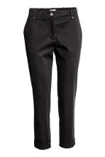 Lyocell blend chinos - Black - Ladies | H&M CN 2