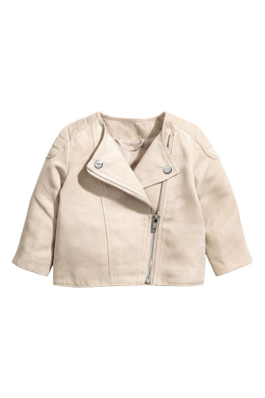 Biker jacket - Light beige - Kids | H&M 1