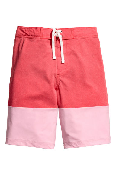 Long swim shorts - Red/Pink - Men | H&M 1