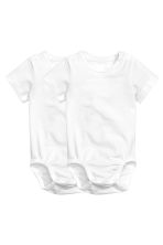 2-pack pima cotton bodysuits - White -  | H&M 2