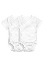 2-pack pima cotton bodysuits - White - Kids | H&M 1