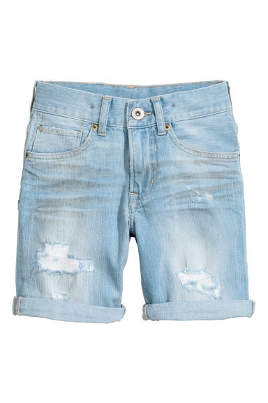 丹寧短褲 - Light denim blue - Kids | H&M