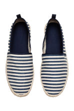 Espadrilles - Dark blue/Striped - Men | H&M CN 2