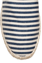 Espadrilles - Dark blue/Striped - Men | H&M 3
