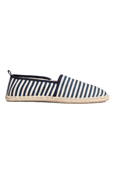 Espadrilles - Dark blue/Striped - Men | H&M CN 1
