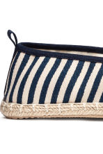 Espadrilles - Dark blue/Striped - Men | H&M CN 4