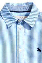 Cotton shirt - Light blue/Striped -  | H&M 3