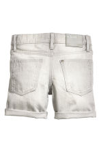 Denim shorts - Grey washed out - Kids | H&M CN 3