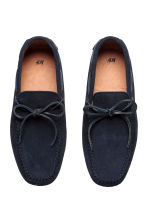 Suede moccasins - Dark blue - Men | H&M CN 2