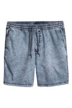 Washed cotton shorts - Blue washed out - Men | H&M 2
