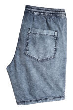 Washed cotton shorts - Blue washed out - Men | H&M 3