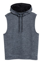 Sleeveless hooded top - Dark grey-blue - Men | H&M CN 2
