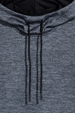 Sleeveless hooded top - Dark grey-blue - Men | H&M CN 3