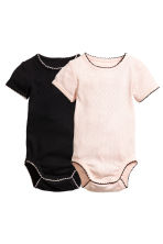 2-pack pointelle bodysuits - Powder pink - Kids | H&M CN 1