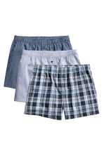 3-pack boxer shorts - Dark blue/Checked - Men | H&M 2