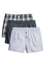 3-pack boxer shorts - Light grey/Checked - Men | H&M 1