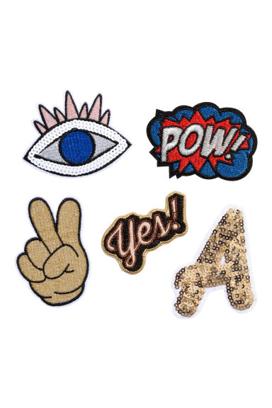 Patches multipack - Gold - Ladies | H&M CN 1