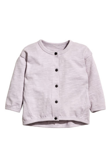 Slub jersey cardigan - Light duksy purple - Kids | H&M CN 1