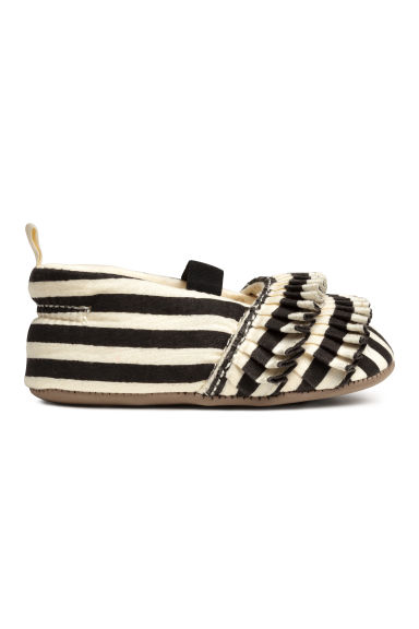 Ballet pumps - Light beige/Striped - Kids | H&M CN 1