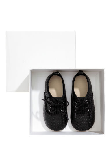 Soft leather shoes - Dark grey - Kids | H&M 1